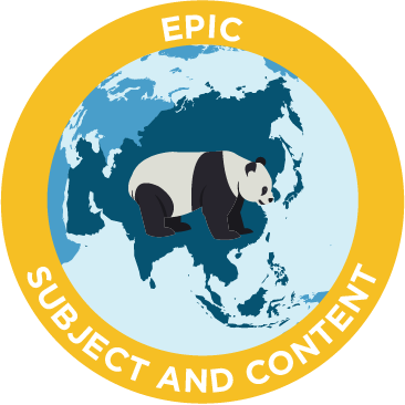 epic subject and content emblem
