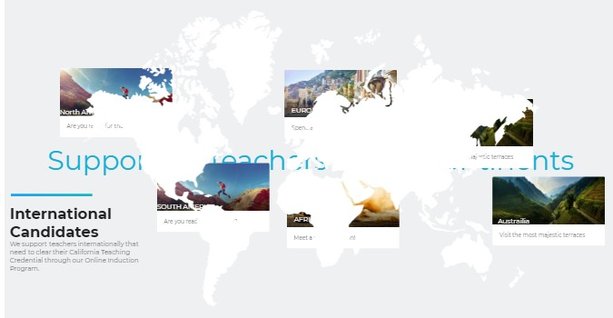 websites and A world map