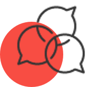 red circle with credential services as an icon